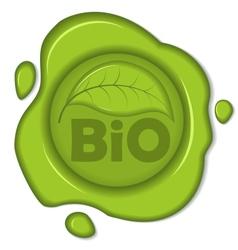 Bio wax seal vector
