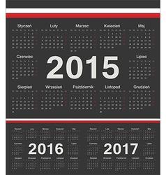 Black polish circle calendars 2015 2016 2017 vector