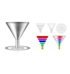 Conversion funnel vector