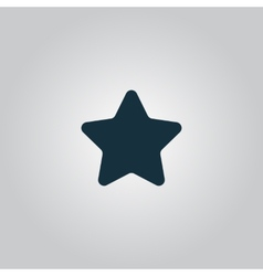 Star icon - isolated vector