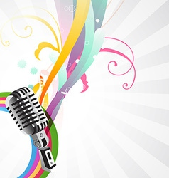 Stylish mic background vector