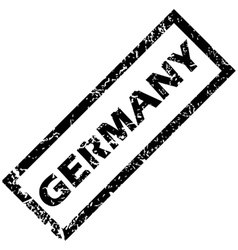 Germany rubber stamp vector