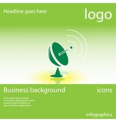 Satellite dish business background vector