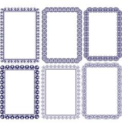 Rectangular frame with embellishments vector