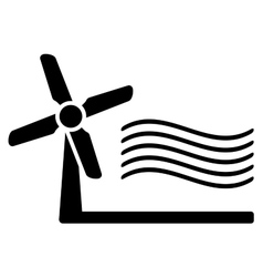 Windmill and wind symbol vector