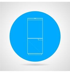Circle icon for refrigerator vector
