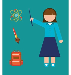 Teacher school vector