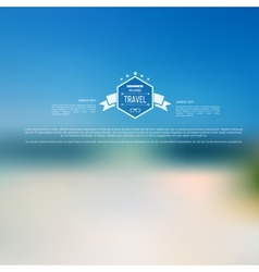 Blurred landscape background travel concept vector