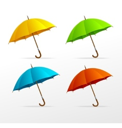 Umbrellas set vector