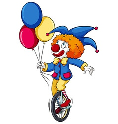 A clown with balloons vector