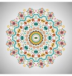 Ornamental round bright fashion pattern in aztec vector
