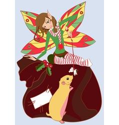 Christmas fairy vector