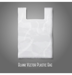 Blank white plastic bag with place for your design vector