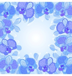 Orchid frame vector
