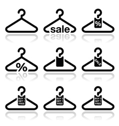 Hanger sale buy 1 get 1 free icons set vector