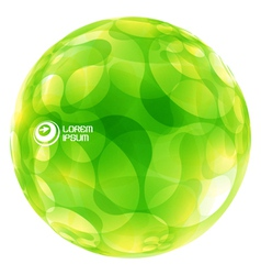 Abstract green globe vector