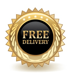 Free delivery badge vector