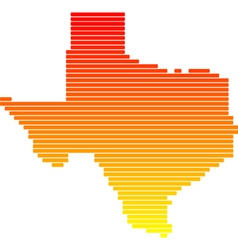 Map of texas vector