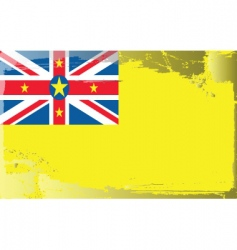 Niue national flag vector