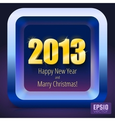 New year 2013 background gold numbers vector