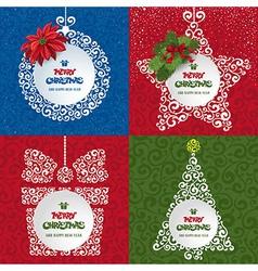 Christmas decor set vector