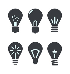 Icon set process of generating ideas to solve vector