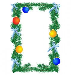 Christmas border vector