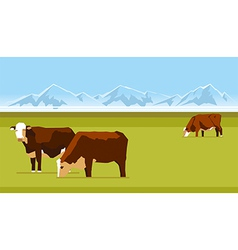 Farm cows vector