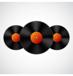 Background with vinyl records vector