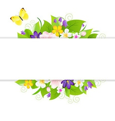 Flowers with paper vector