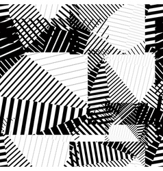 Black and white endless striped tiling fashionable vector