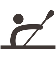 Rowing and canoeing icon vector