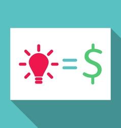 Concept of creative idea is cash income - vector