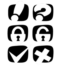 Icons for the internet vector