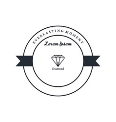 Diamond badge theme vector
