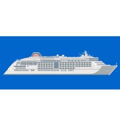 Ocean liner on a blue background vector