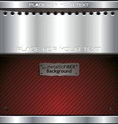 Metallic fiber background vector