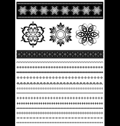 Collection patterned border vector