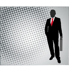 Businessman on the abstract background vector