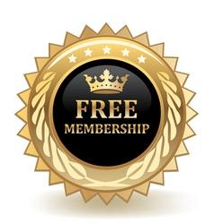 Free membership badge vector