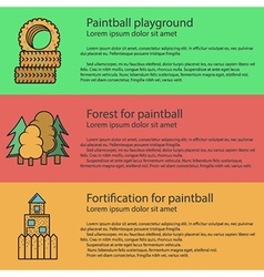 Paintball playground flat color vector