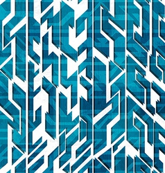 Abstract blue technology seamless pattern vector