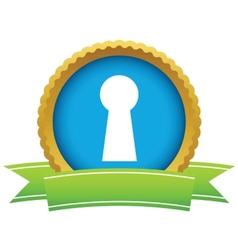 Gold keyhole logo vector