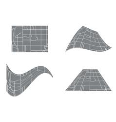 City road map - set vector