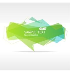 Speech templates for text vector