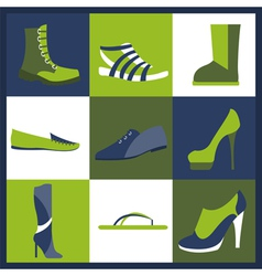 Footwear elements icons set easily edited vector