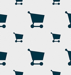 Shopping basket icon sign seamless pattern with vector