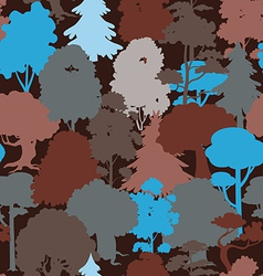 Deep forest blue camouflage seamless pattern vector