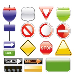 Road signs set vector