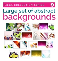 Mega set of abstract backgrounds vector